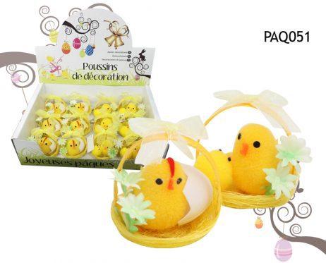 POUSSINS DE PÂQUES (Décoration œufs de pâques) Petits paniers poussins