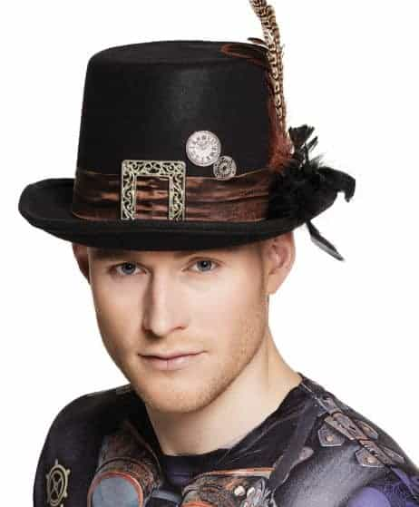Chapeau steampunk noir