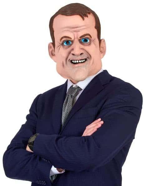 Masque politique Macron