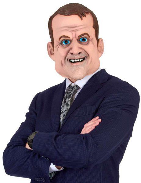 Masque Emmanuel Macron (Personnalité Politique) Masque Intégral en latex