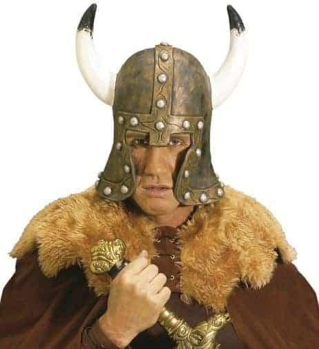 Casque viking en latex