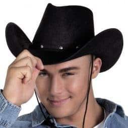 Chapeau rodéo noir