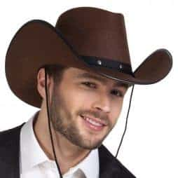 Chapeau rodéo marron