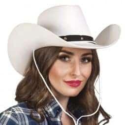 Chapeau rodéo blanc