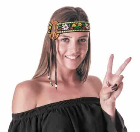 Serre tete hippie
