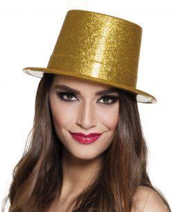 Chapeau doré strass