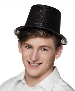 Chapeau noir strass