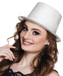 Chapeau blanc strass