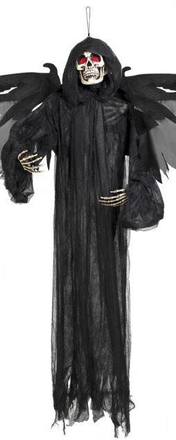 Squelette noir animé 165 cm