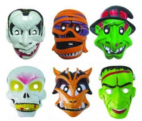 MASQUES HALLOWEEN (Masques enfants en PVC) Collection 6 modèles