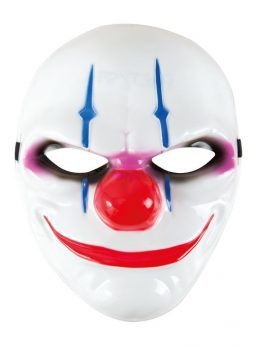 Masque clown rigide