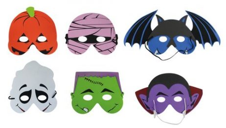 LOUPS HALLOWEEN ENFANTS (Assortiment 6 masques)