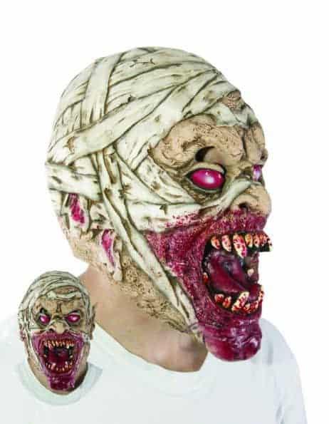 MASQUE DE MOMIE EN SANG (Masque en latex)