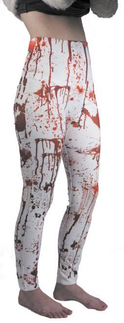 Legging blanc + faux sang