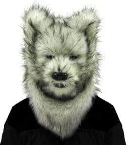Masque intégral loup blanc