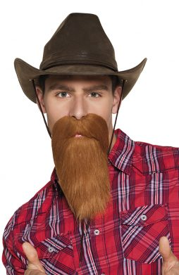 Barbe longue marron