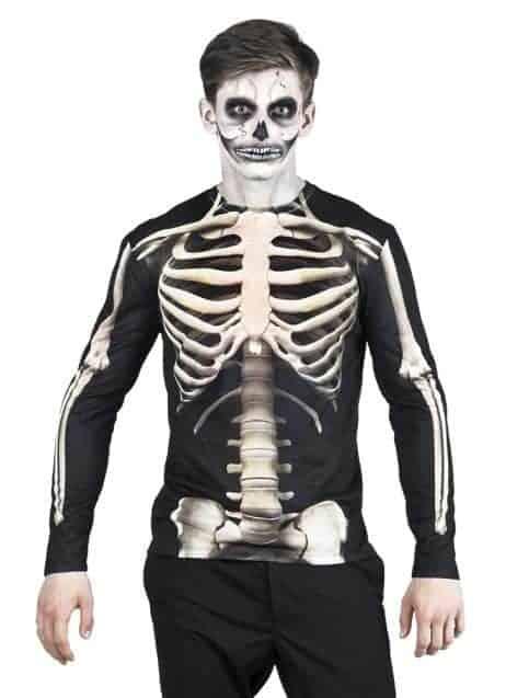 Chemise longue squelette