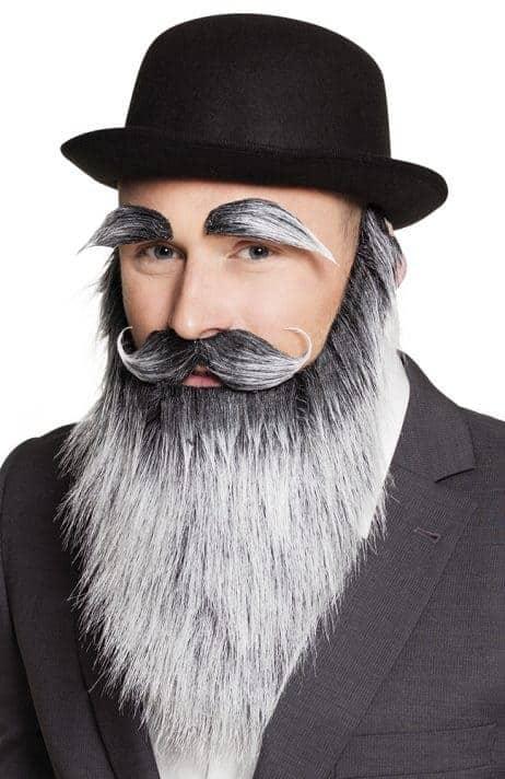 KIT POIVRE ET SEL ADHÉSIF (moustache, barbe, sourcils)