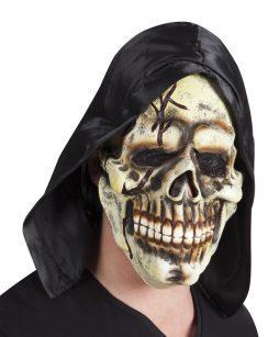 Masque squelette capuche