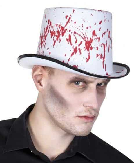 Chapeau blanc halloween