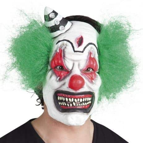 Masque clown + cheveux