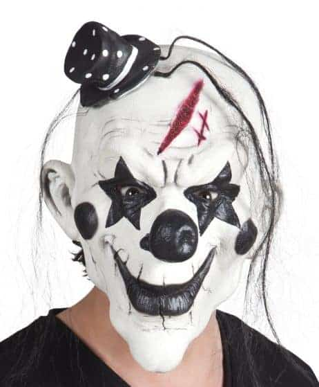 Masque latex clown halloween