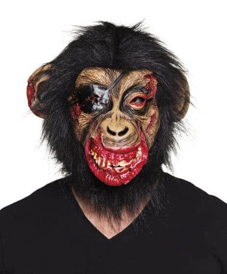 Masque chimpanze sanglant