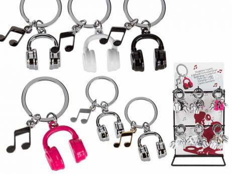 Porte clé casque audio