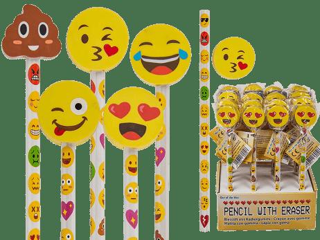 CRAYONS ÉMOTICÔNES (Crayons gommes assortis)