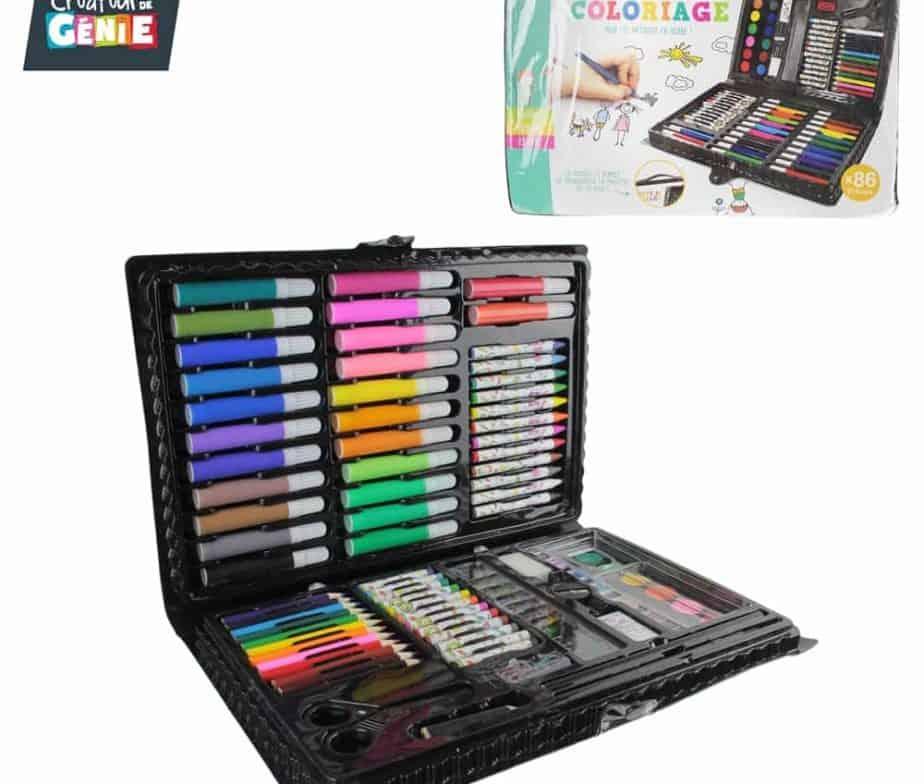 malette de coloriage coffret de luxe 86 pices