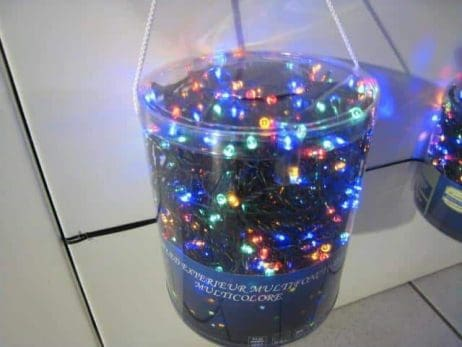 GUIRLANDE ELECTRIQUE (Multi couleurs avec 100 led) Fil vert de 4m95