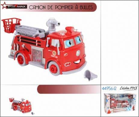 CAMION DE POMPIER (Camion à bulles de savon) Cogne les murs et repart