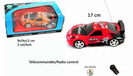 VOITURE DE SPORT TURBO (Voiture Radiocommandée) Taille 17 cm - 2 coloris