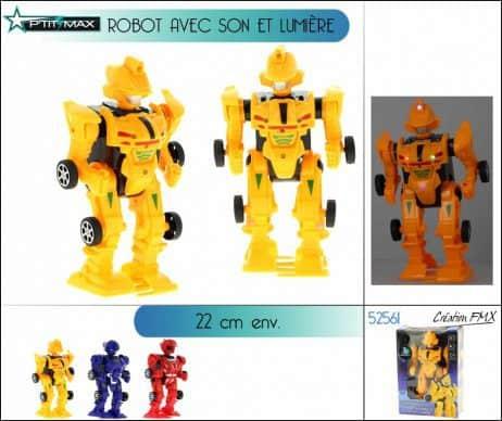 ROBOT SONORE ET LUMINEUX