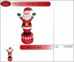 Pere noel gonflable tournant