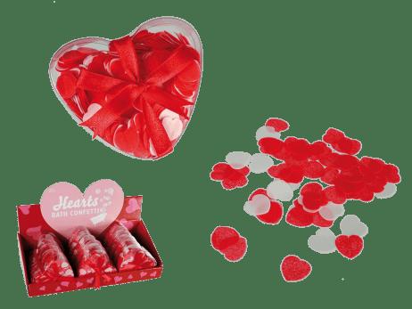 CONFETTIS CŒURS DE BAIN (Boite confettis pour le bain) Spécial Saint Valentin - 20 g