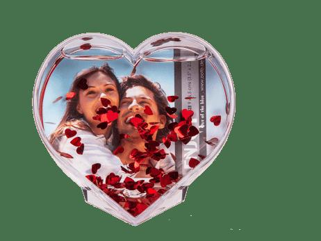 CADRE PHOTO COEUR  3D (Pour photo 9 x 9 cm) Spécial Saint valentin