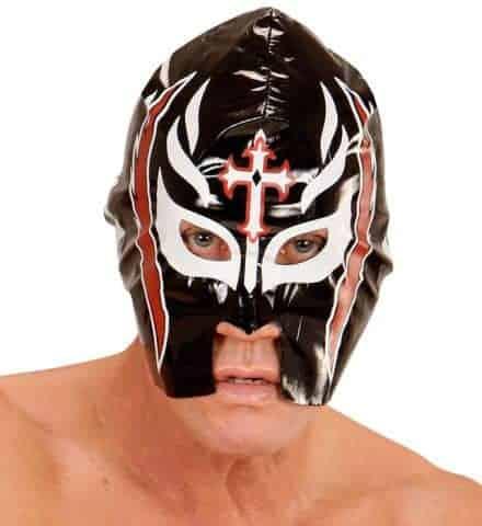 MASQUE DE CATCHEUR (Masque noir en plastique)