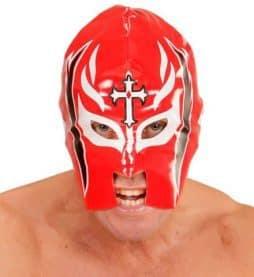 Masque rouge de catcheur