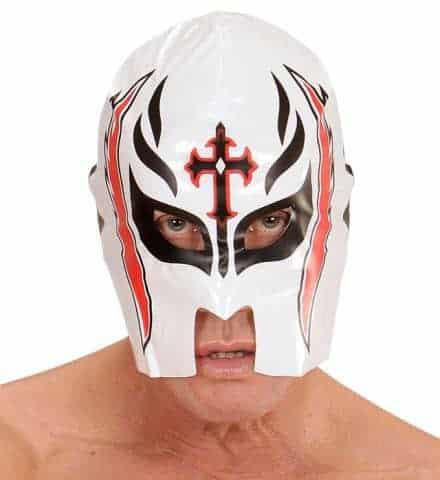 Masque blanc de catcheur