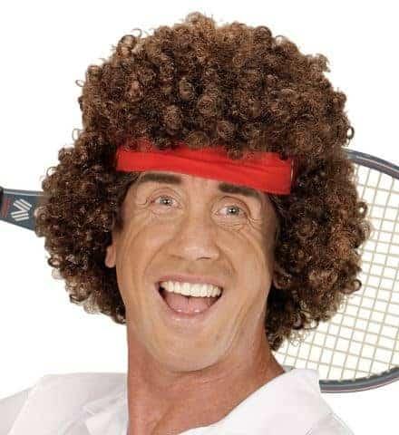 PERRUQUE TENNISMAN (Perruque cheveux bouclés) Perruque + bandeau