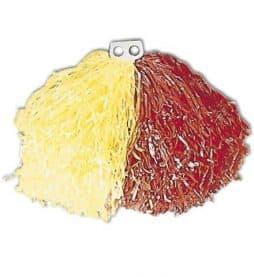 Pompon bicolore jaune et rouge