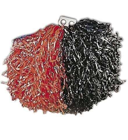 Pompon bicolore noir et rouge