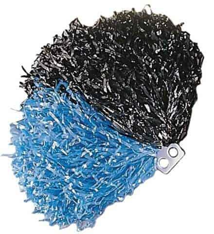 Pompon bicolore bleu et noir
