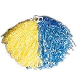 Pompon jaune bleu