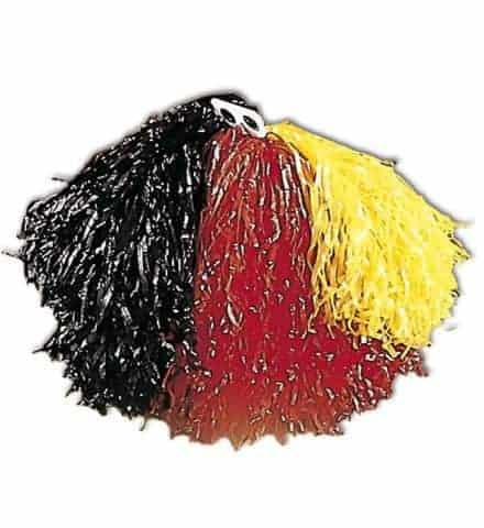 POMPON POMPOM GIRL (Supporter Allemagne) Pompon tricolore