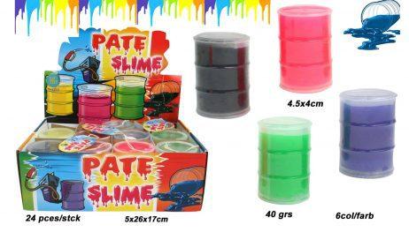 BOX DE PÂTE SLIME (Assortiment de 6 couleurs) Pots de 40 grammes