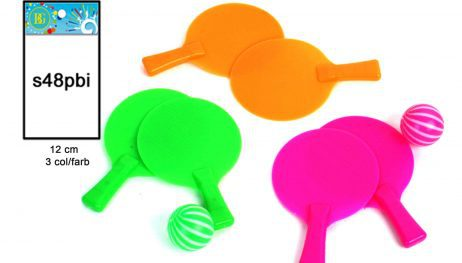 SET DE MINI PING PONG (Raquettes 12 cm + balle) Assortiment 3 couleurs