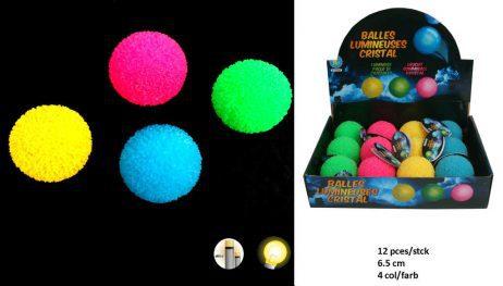 BALLES REBONDISSANTES (Boite balles lumineuses) Assortiment 4 coloris
