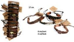 bracelet cuir plaque métal